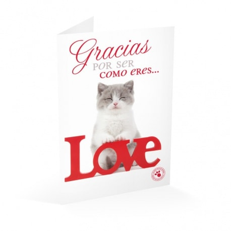 Tarjeta Felicitacion Studio Pets Gracias Por Ser Como Eres