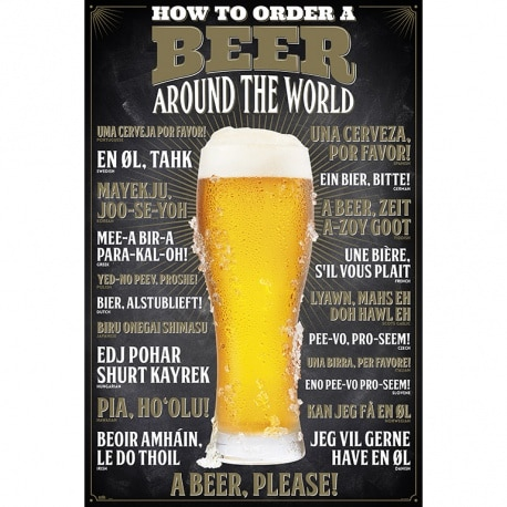 Poster Como pedir una cerveza