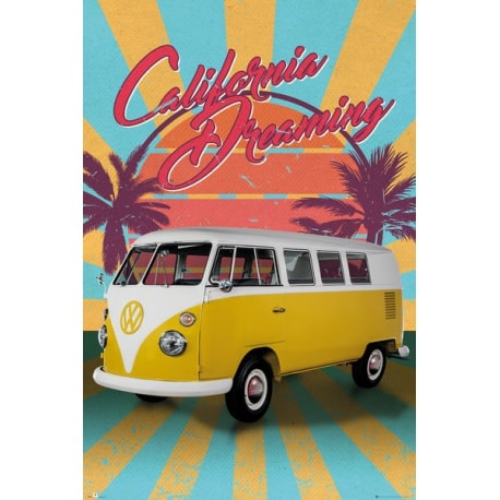 Poster VW Camper Cali Retro