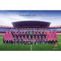 Poster F.C. Barcelona 2016/2017 Plantilla