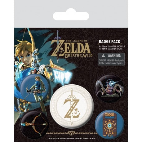 Pack de Chapas Zelda Breath Of The Wild (Emblema Z)
