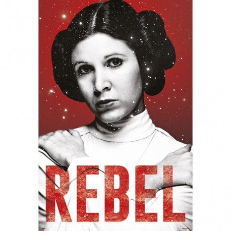 Poster Star Wars Princesa Leia Rebel