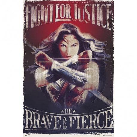 Poster Mujer Maravilla Pelea por la Justicia