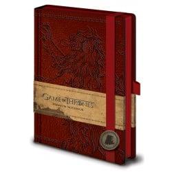 Cuaderno A5 Premium Juego de Tronos Lannister