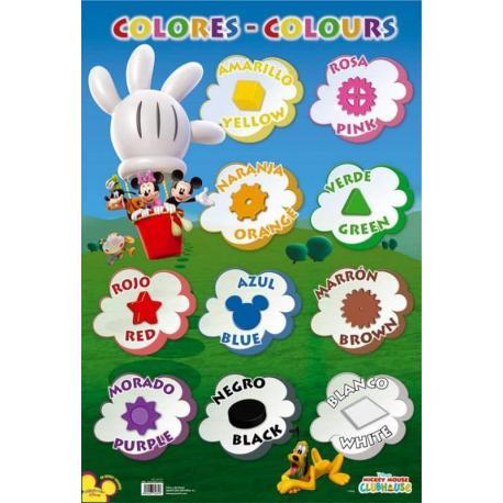 Lámina Educativa Colores Mickey Club House