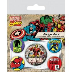 Pack de Chapas Marvel Iron Man Retro