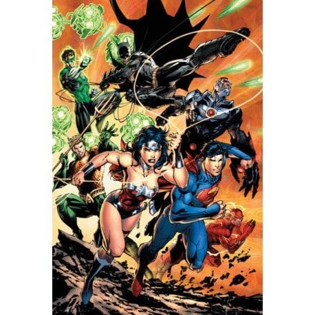 Poster Dc Comics Liga de la Justicia