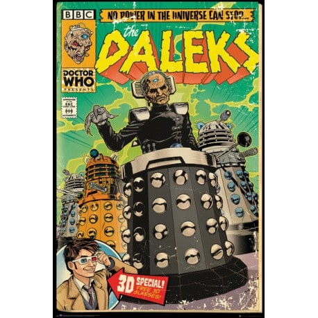 Poster Doctor Who Daleks Comic