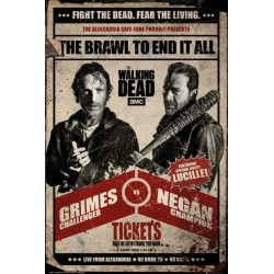 Poster The Walking Dead Pelea
