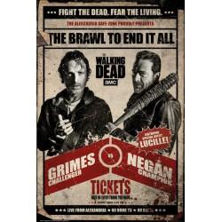 Poster The Walking Dead Pelea