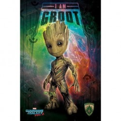 Poster Guardianes de la Galaxia Vol. 2 (Soy Groot)