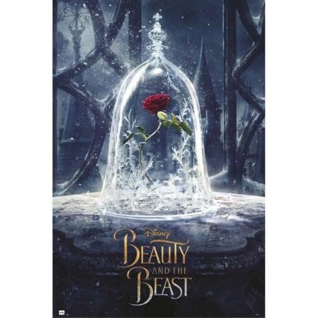 Poster La Bella y La Bestia Rosa