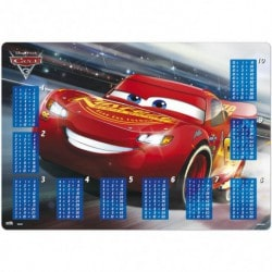 Vade Escolar Cars 3 Multiplicar