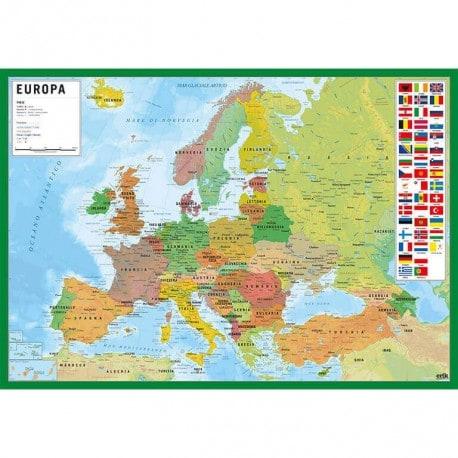 Vade Escolar Mappa Dell Europa (Italiano)