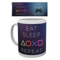 Taza Playstation Eat Sleep Repeat