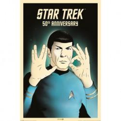 Poster Star Trek Beyond Spock 5-0 50Th Anniversary