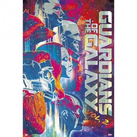 Poster Marvel Guardianes de la Galaxia Vol 2