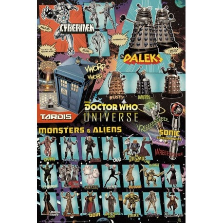Poster Doctor Who Personajes