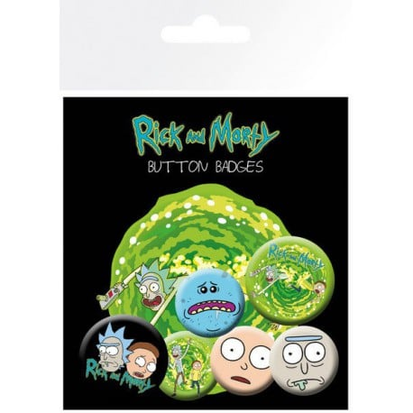 Pack de Chapas Rick and Morty Personajes