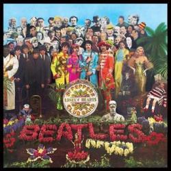 Pegatina Vinilo Beatles Sgt Pepper