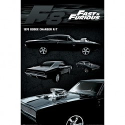 Poster Rapido y Furioso 8 (Dodge Charger)