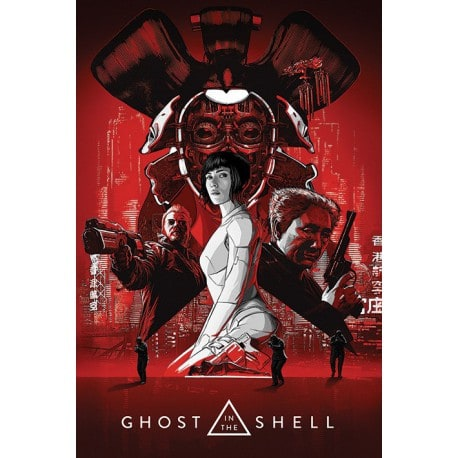 Poster Ghost In The Shell (Red)