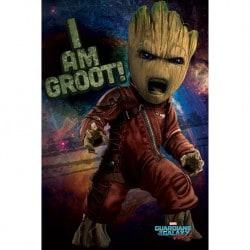 Poster Guardianes de la Galaxia Vol.2 (Groot Enojado)