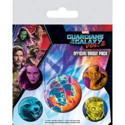 Pack de Chapas Guardianes de la Galaxia Vol. 2 (Cosmico)
