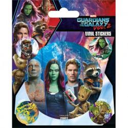 Pegatina Guardianes de la Galaxia Vol. 2 (Equipo)