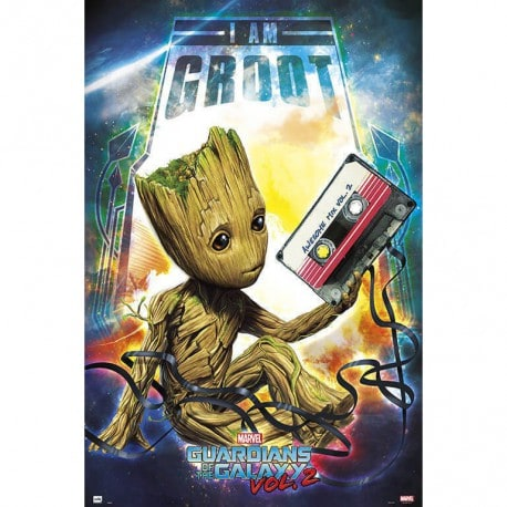 Poster Marvel Guardianes de la Galaxia Vol.2 (Groot)