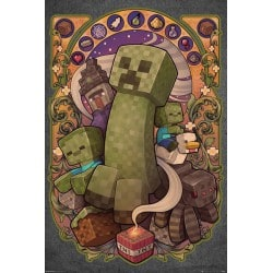 Poster Minecraft Creeper Nouveau