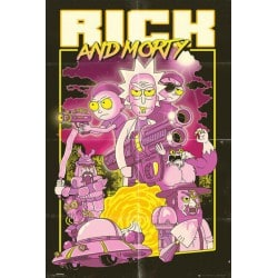 Poster Rick and Morty Action Movie