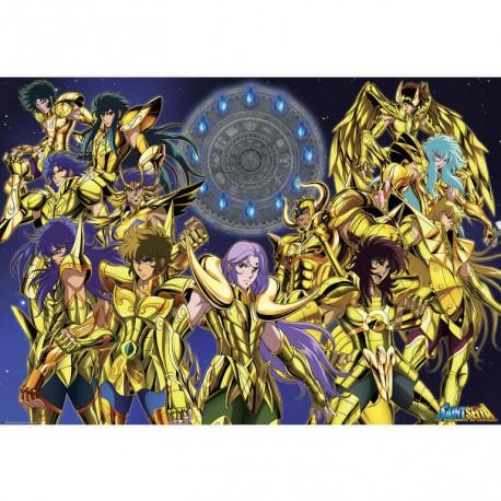 Poster Saint Seiya Caballeros de Oro