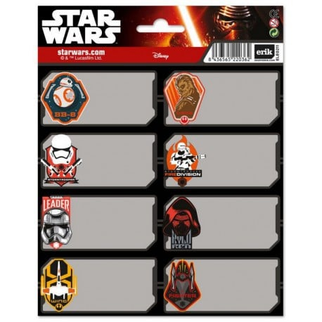 Etiquetas Star Wars Vii 2