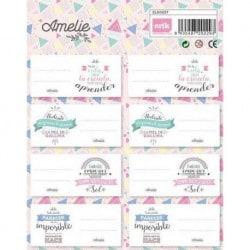 Etiquetas Amelie Classic Rosa