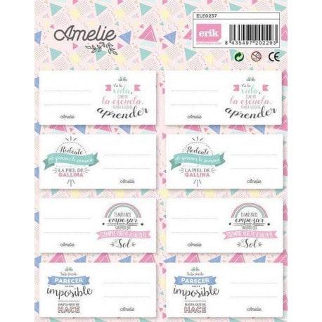 Etiquetas Escolares Amelie Classic Rosa