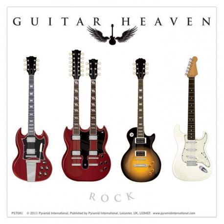 Pegatina Vinilo Guitar Heaven Clasico