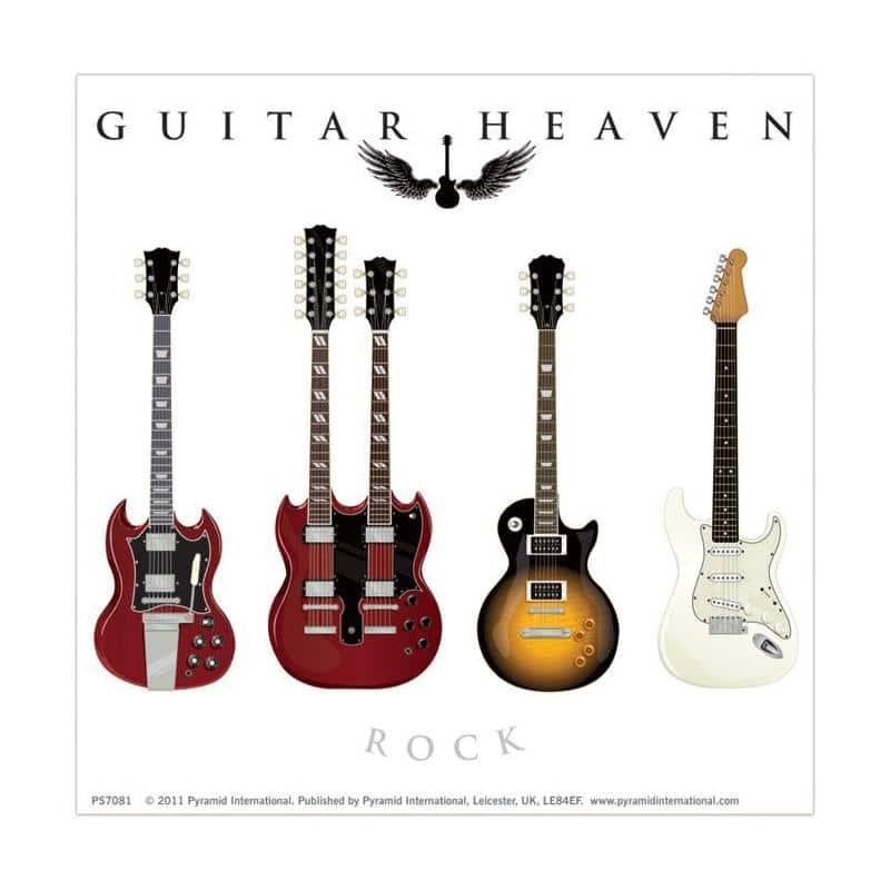 El pegatina vinilo guitar heaven clasico de mejor calidad - Posters y vinilos ...
