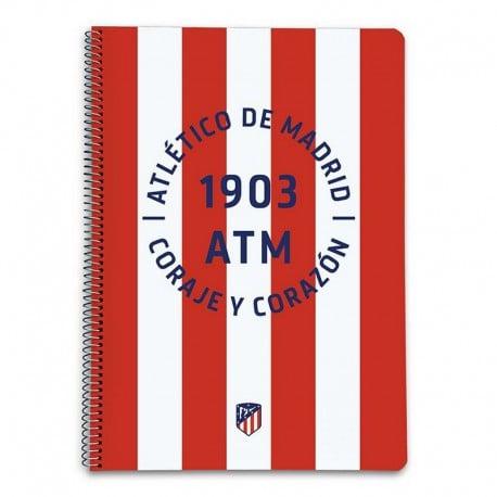 Cuaderno Tapa Dura A4 Atletico De Madrid