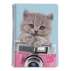 Cuaderno Tapa Dura A5 Studio Pets Cat Camera