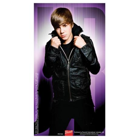 Pegatina Vinilo Justin Bieber Morado