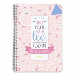 Cuaderno Tapa Dura A5 Amelie Classic Rosa