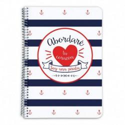 Cuaderno Tapa Dura A5 Amelie Marinero