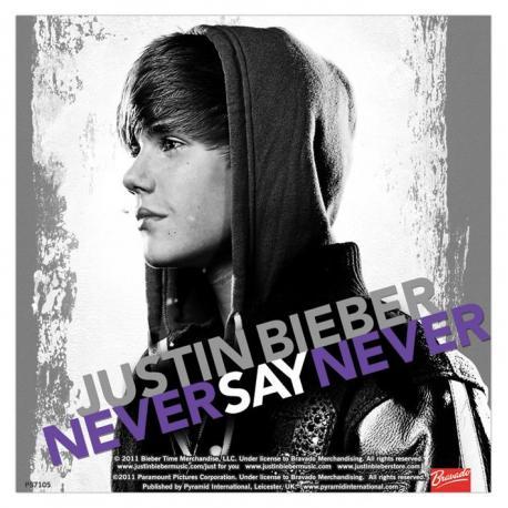 Pegatina Vinilo Justin Bieber Nunca Digas Nunca