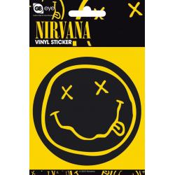 Pegatina Vinilo Nirvana Smiley