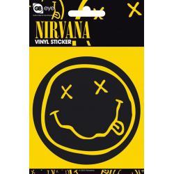 Pegatina Vinilo Nirvana Smiley