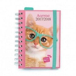 Agenda Escolar 2017/2018 Dia Pagina Studio Pets Cat