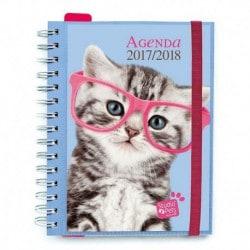 Agenda Escolar 2017/2018 Semana Vista Studio Pets Cat