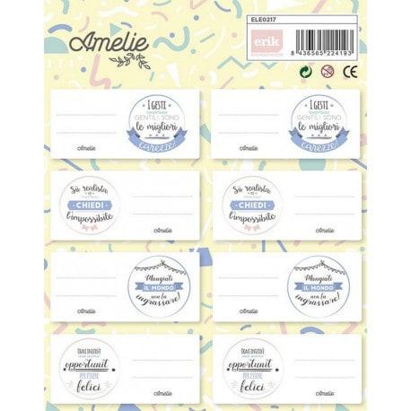 Etiquetas Escolares Amelie (en Italiano)