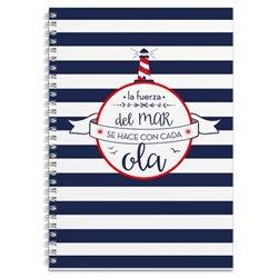 Cuaderno Tapa Forrada A4 Amelie Marinero